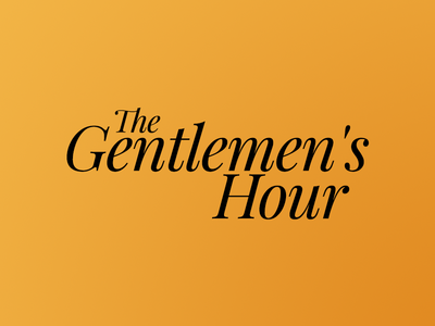 The Gentlements Hour playfair serif logo
