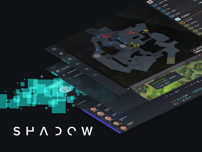 SHADOW.GG gaming esports teal dark ui shadow