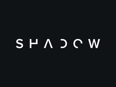 SHADOW Logo cropped letters simple logo shadow