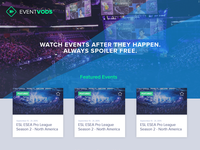 Event Vods Landing Page
