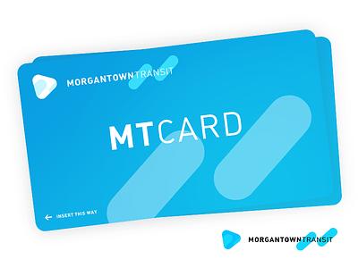 MTCard - Fake Transit Card logo mockup credit card metro transit authority wv morgantown metro card card transit