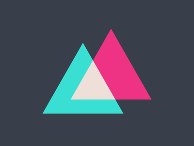two triangles logomark triangles