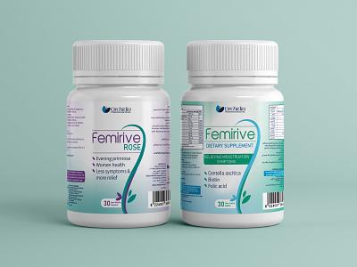 Femirive Pacaging design medicine packaging packaging design supplement for women multivitamin packaging