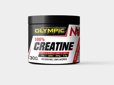Olympic creatine packaging design creatine design supplement packaging medicine packaging packaging design