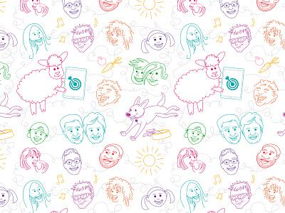 Repeating pattern illustration pattern illustration pattern illustration
