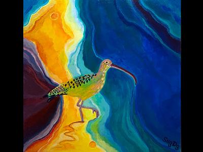Facing Future landscape wildlife acrylicpainting acrylic