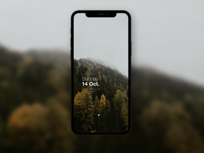 minimal mobile weather app design