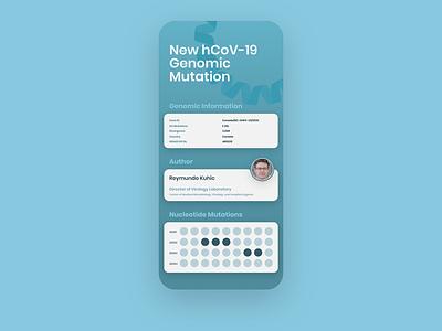 Genomic Epidemiology App illustration flat minimal vector design user interface ui ux ui design app design app uiux uidesign ui ncov-19 hcov-19
