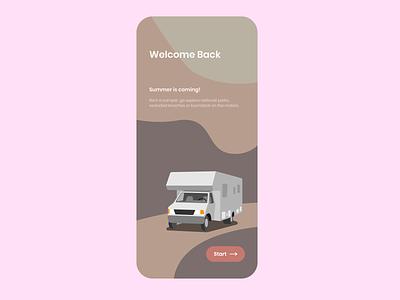 Rent A Camper user interface ui ux uiux flat uidesign ui design minimal illustration app design app