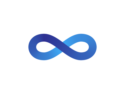Infinity overlapping curve smooth curve blue gradient stroke gradient infinity