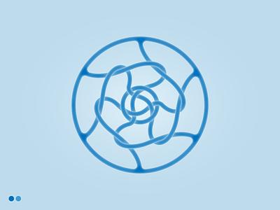 Tangled Knotted Logo branding vector gradient logo designs blue logo tangled knot knots modern logo minimal logo flat logo logo design inner glow minimal logo