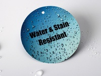 Water and Stain Resistant Swing Tag