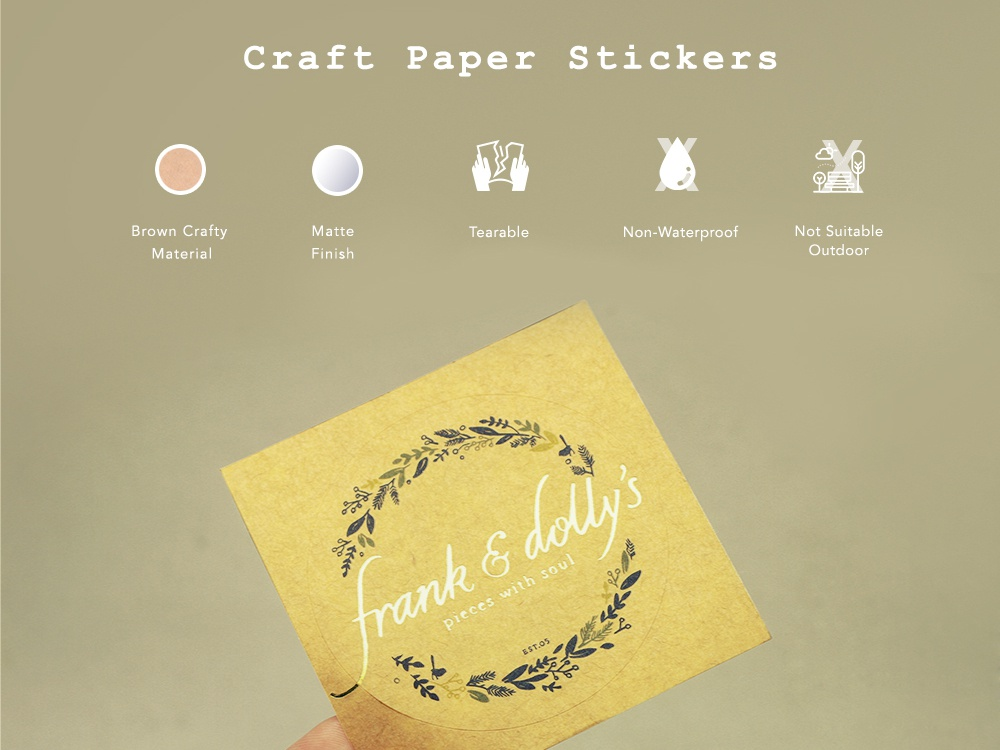Craft Paper Stickers sticker design branding