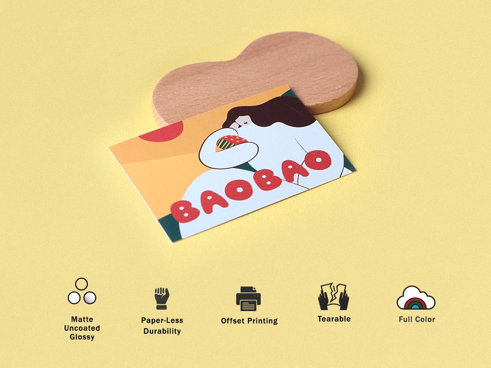 Standard Business Card sticker design branding