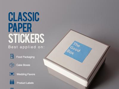 Classic Paper Stickers sticker design branding