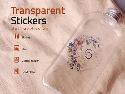 Transparent Stickers sticker design branding