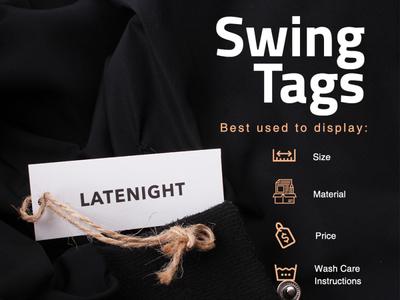 Swing Tags sticker design branding
