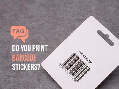 Barcode Stickers sticker design branding