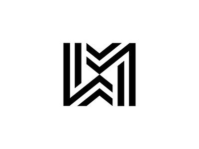 MW logo design logotype lettering ambigram monogram mark symbol logo letter w m