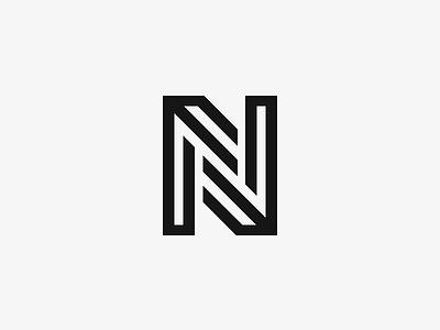 N logo design symbol monogram mark n logotype logo line lettering letter ambigram