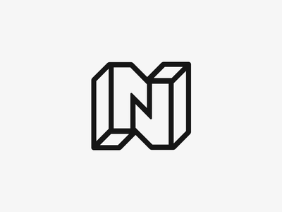 N11 minimalism architectural simple eleven one number perspective line symbol logo monogram n