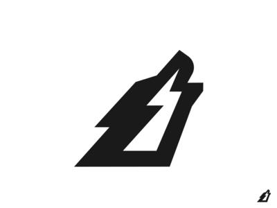 Wolf symbol logo howling thunder wolf