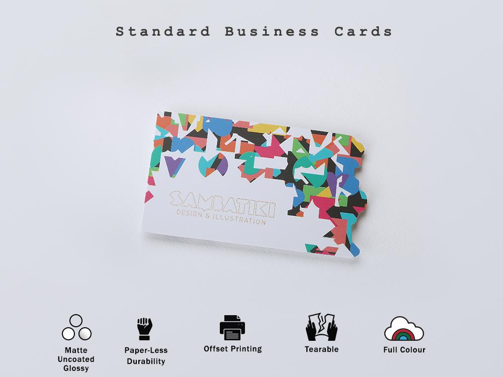 Standard Business Card typography desgin sticker design branding