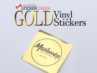 Gold Vinyl Stickers