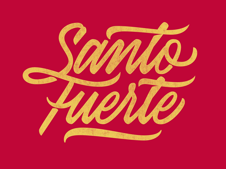 Santo fuerte logotype design vector letters lettering art lettering artist lettering