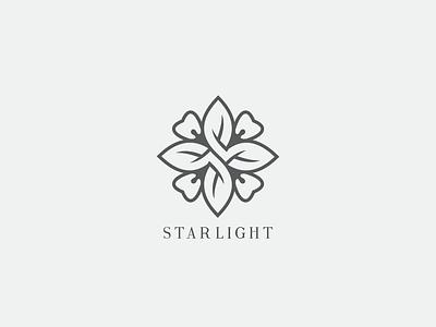 Starlight Logo bali flower logo dental logo beauty logo star