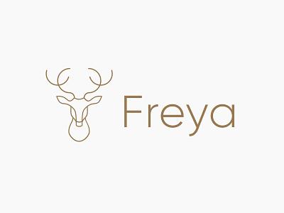 Freya logos design simple animal logo deer logo