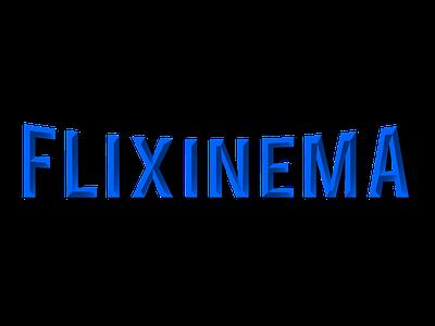 Flixinema logo font duo movie app vector logo 3d