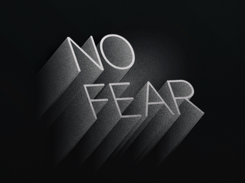 No Fear typography