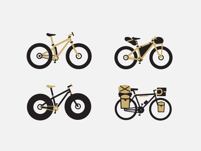 Bike Set 2 for Pedal Pushers Club // Off Road & Touring