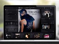 Music Player Interface - Dark UI