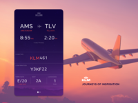 Airline itinerary in a glance