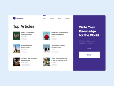#Exploration - Landing Page UI (above the fold)