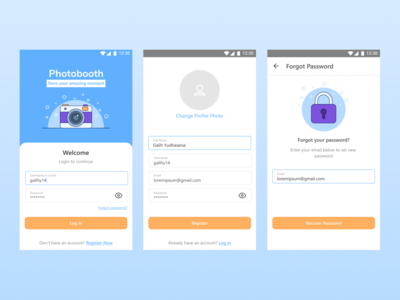 Login & Register UI - Photobooth App