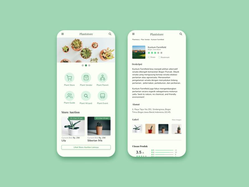 Plant Store App Design plants app ui store ios