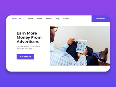 App Publishers Monthly Subscription Web design subscription hero image hero landing page clean ui minimalist clean branding design typography