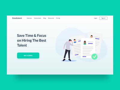 Recruitment Platform hiring platform tool recruitment hiring landingpage webdesign website uxdesign uidesign