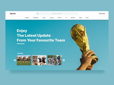 Social Platform for Sport Fans uidesign website webdesign uidailychallenge clean ui landing page clean design ux ui