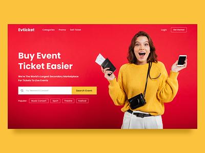 Tickets for Events Website ticket event branding webdesign minimalist uidailychallenge clean ui clean ux ui landing page
