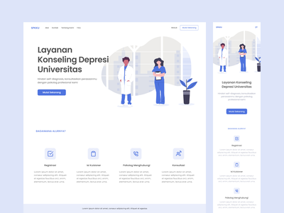 A Homepage Design for Depression Counseling Website mobile website design responsive website depression homepage mental health responsive design responsive