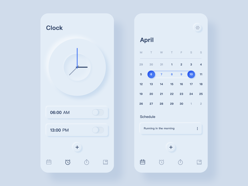Calendar and alarm app blue logo design calendar and alarm calendar and alarm