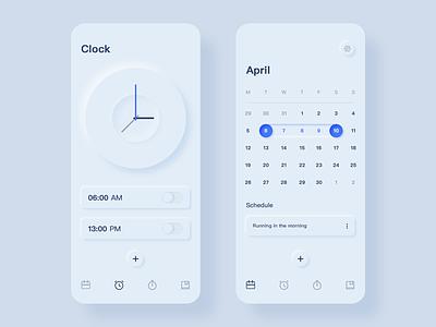 Calendar and alarm app blue logo design calendar and alarm calendar and alarm