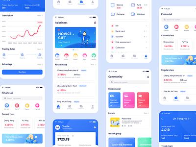 Financial app 02 typography ui logo 概念 design 插图 cool colors blue app