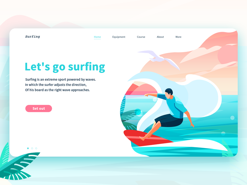 surfing web logo design 设计 插图 surfing