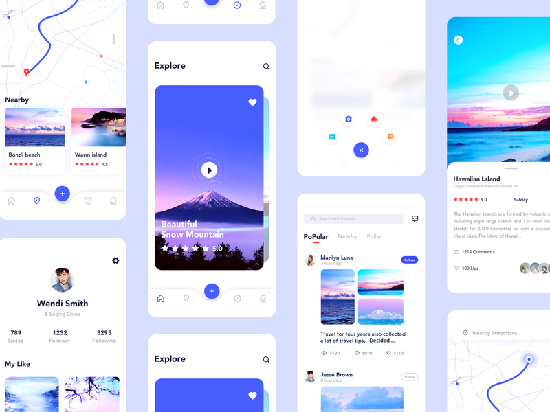 Travel app 02 ux vector gradient 概念 concept logo cool colors icon app travel app 02 travel app 02