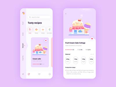 Cooking recipe app 概念 logo design cool colors 插图 app